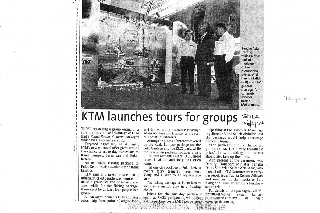 KTM launches tours for groups