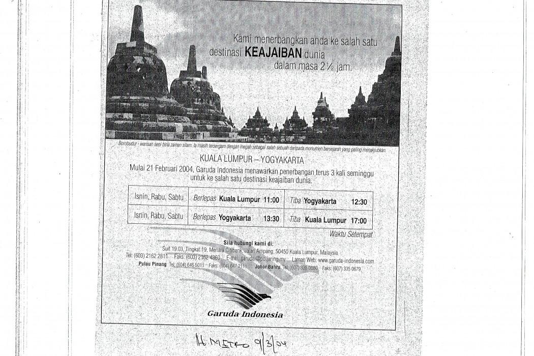 Kami menerbangkan anda ke salah satu destinasi keajaiban dunia dalam masa 2 12 jam (Garuda Indonesia)