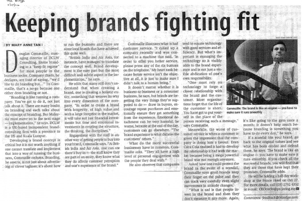 Keeping brands fighting fit