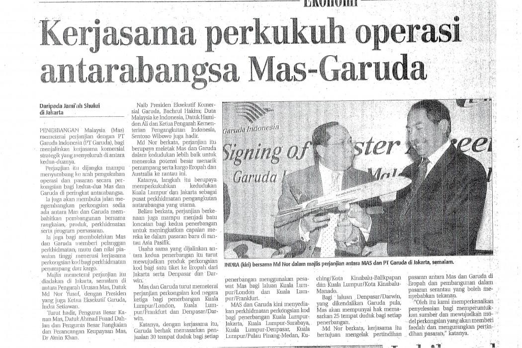 Kerjasama perkukuh operasi antarabangsa Mas-Garuda