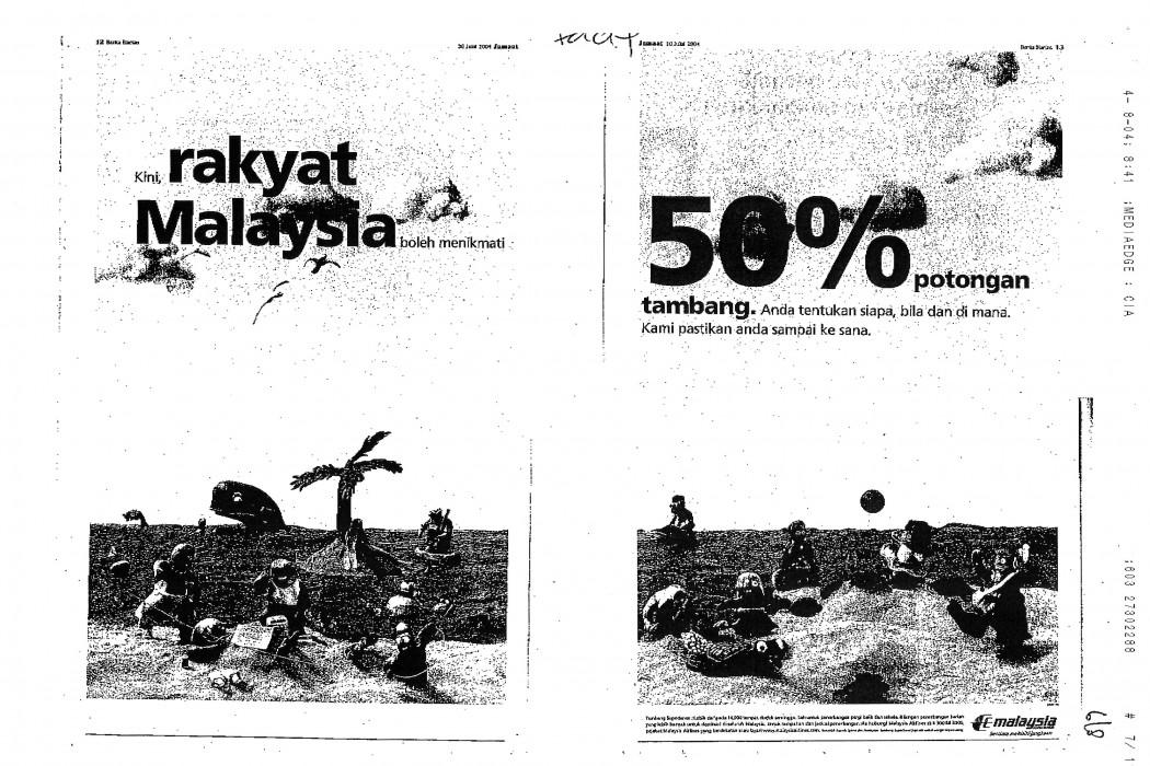Kini, rakyat Malaysia boleh menikmati 50% potongan (MAS) (1)