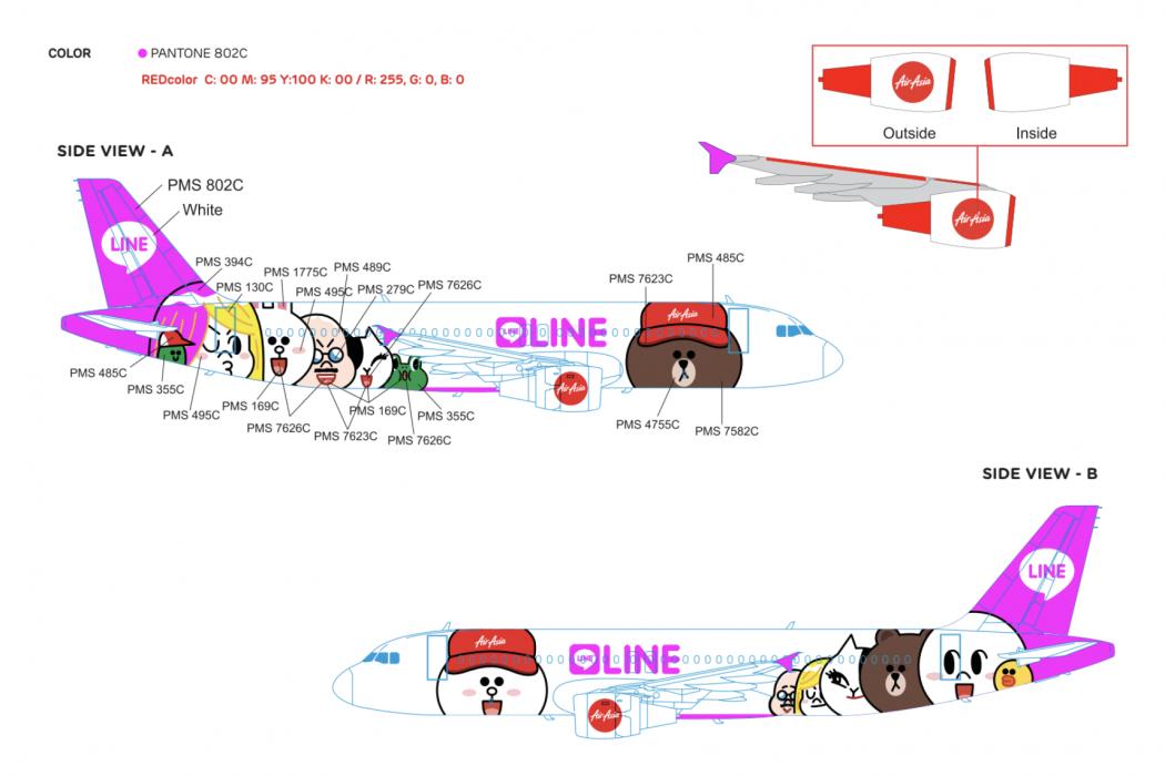 LINE plane livery artwork