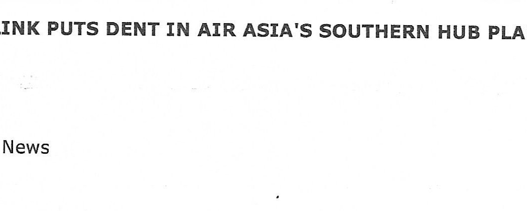 Lack of Direct Bus Link Puts Dent in airasia'a Southern Hub Plans (1)