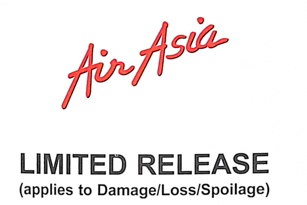 Limited Release And Received Damaged Form