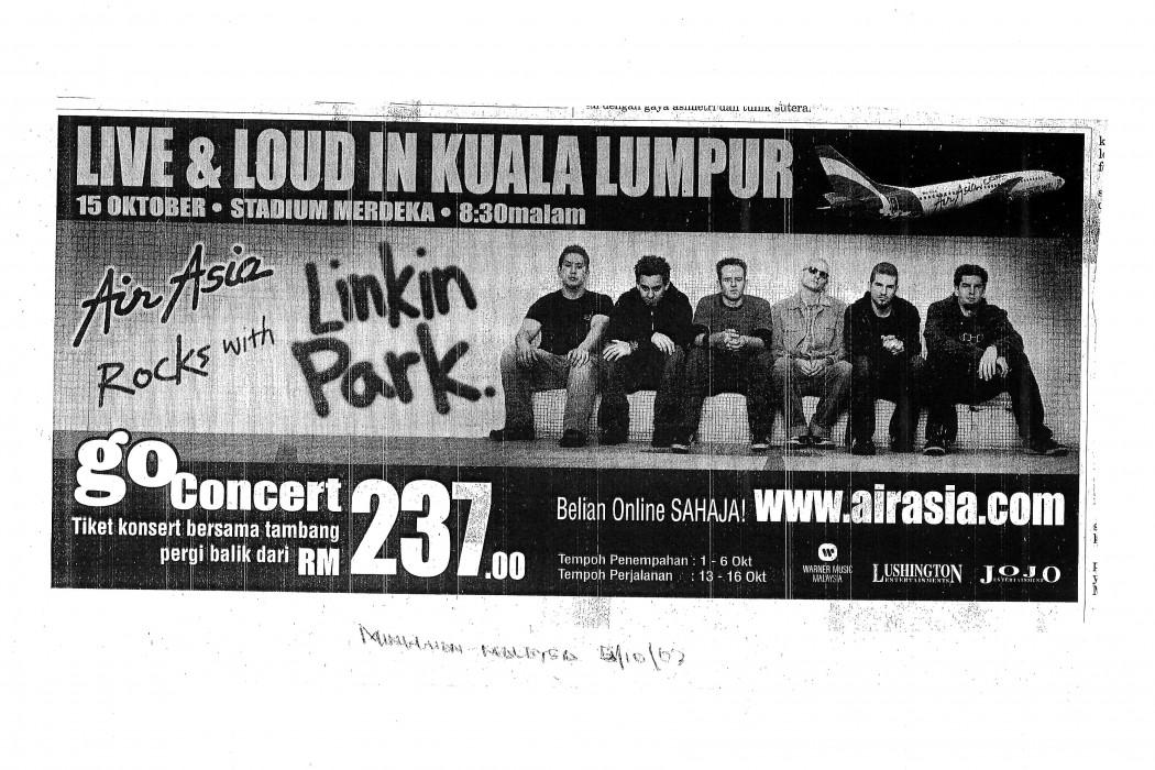 Live & Loud in Kuala Lumpur airasia Rocks with Linkin Park