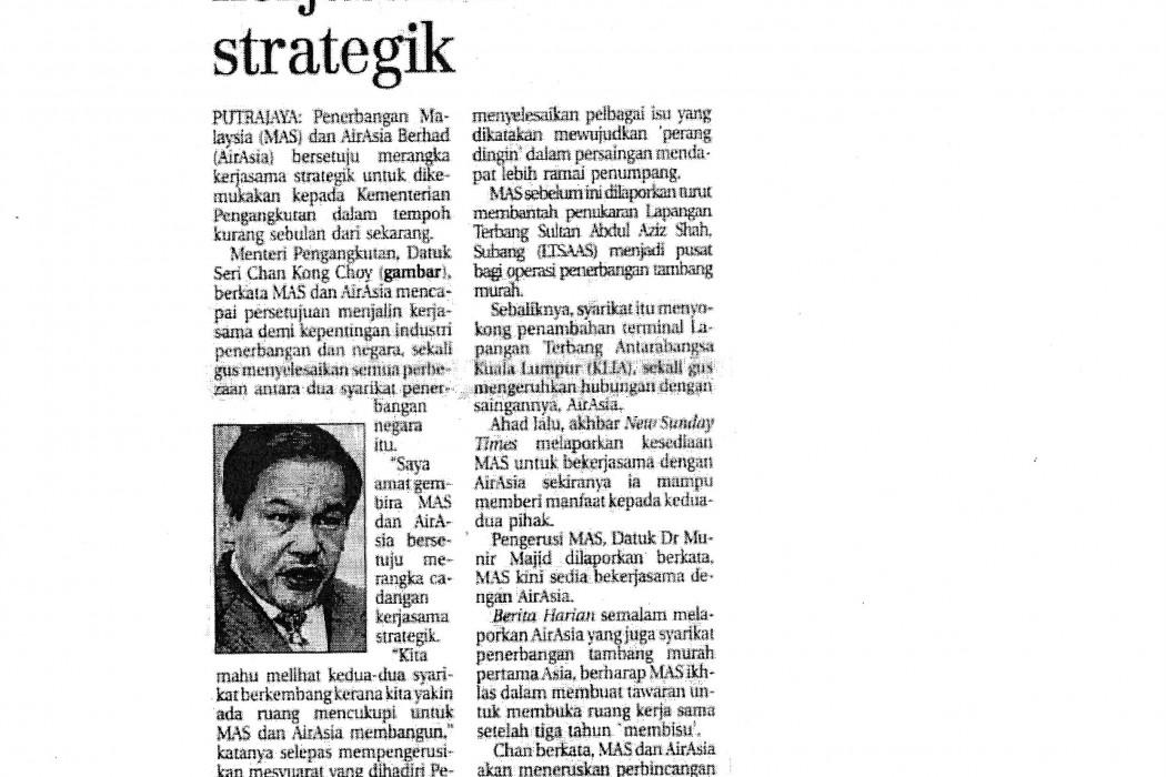MAS, airasia rangka kerjasama strategik