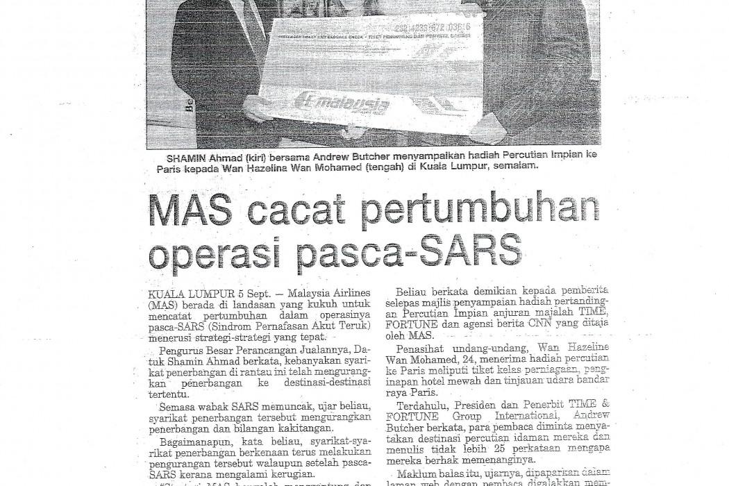 MAS cacat pertuumbuhan operasi pasca-SARS