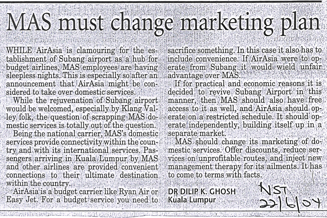 MAS must change marketing plan (2)