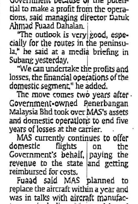 MAS seeks return of domestic operations