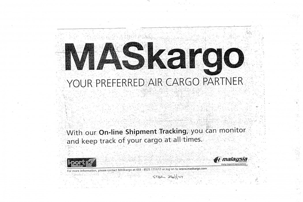 MASkargo Your Preferred Air Cargo Partner (MAS)