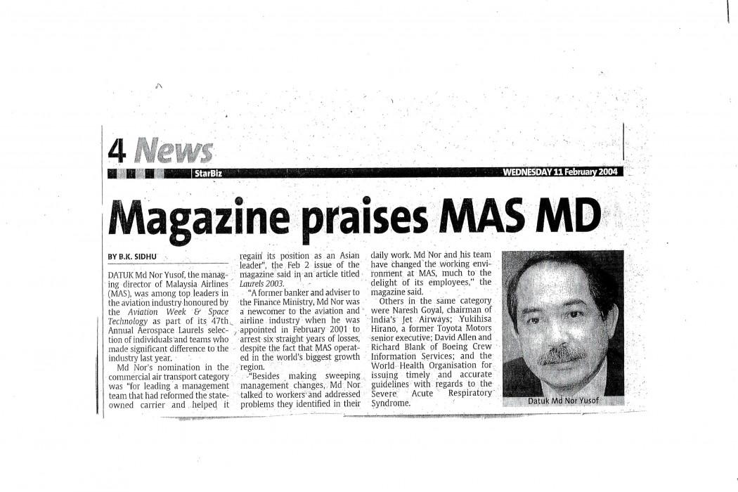 Magazine praises MAS MD