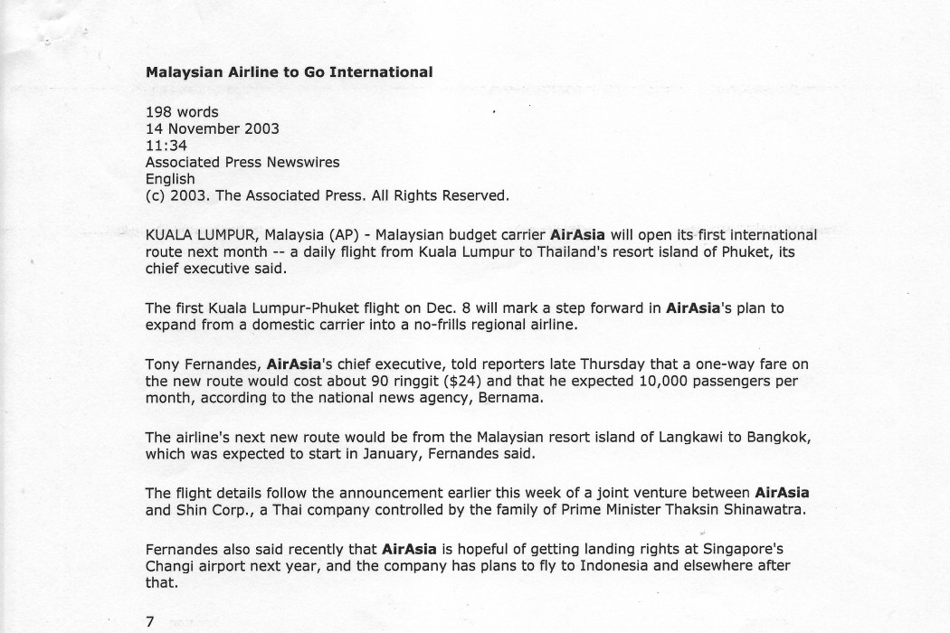 Malaysia Airline to Go International