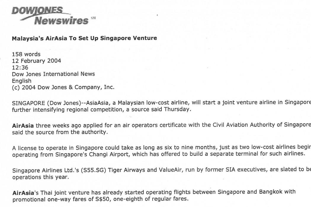 Malaysia's airasia to set up Singapore venture