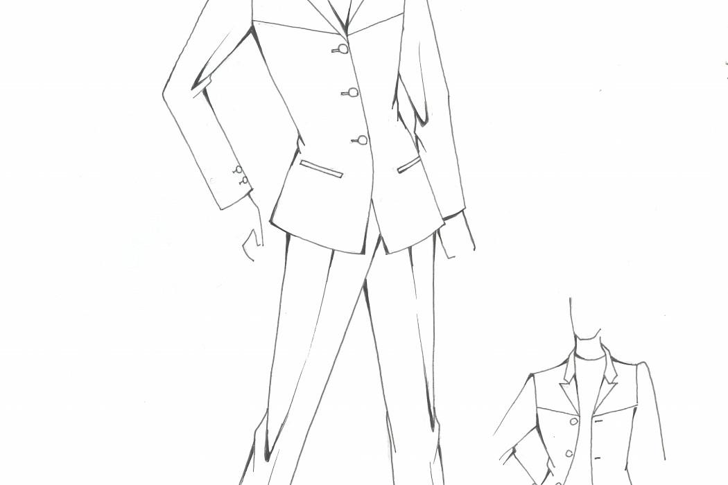Male cabin crew uniform design sketch (2)