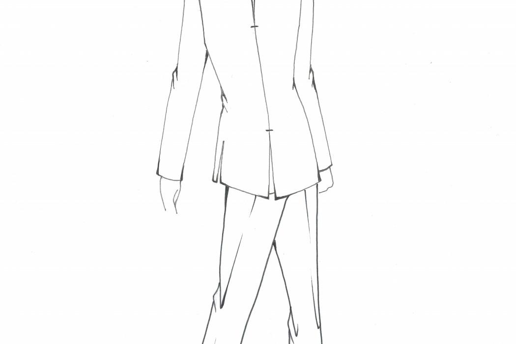 Male cabin crew uniform design sketch (3)