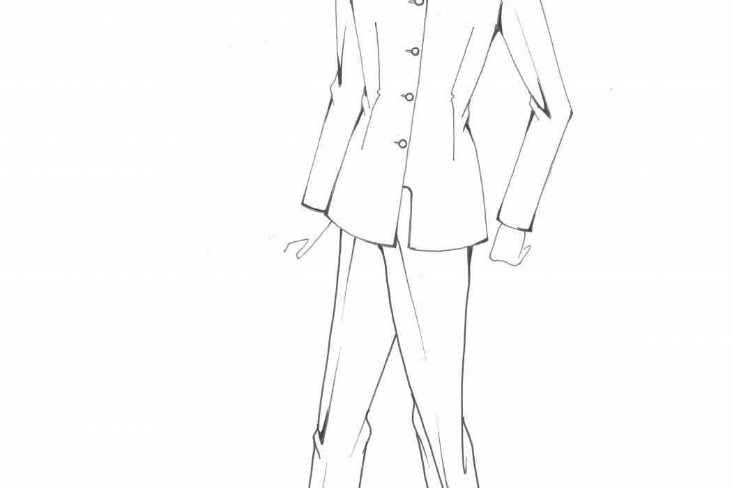 Male cabin crew uniform design sketch (5)