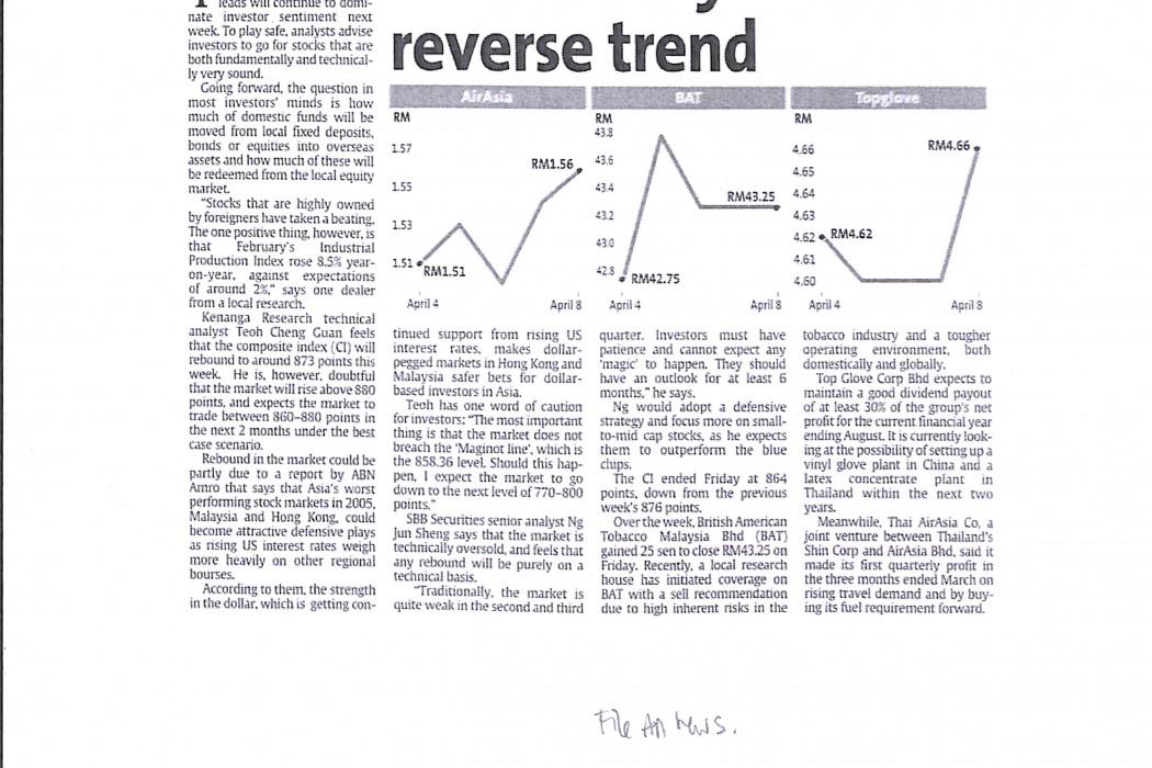 Market may reverse trend
