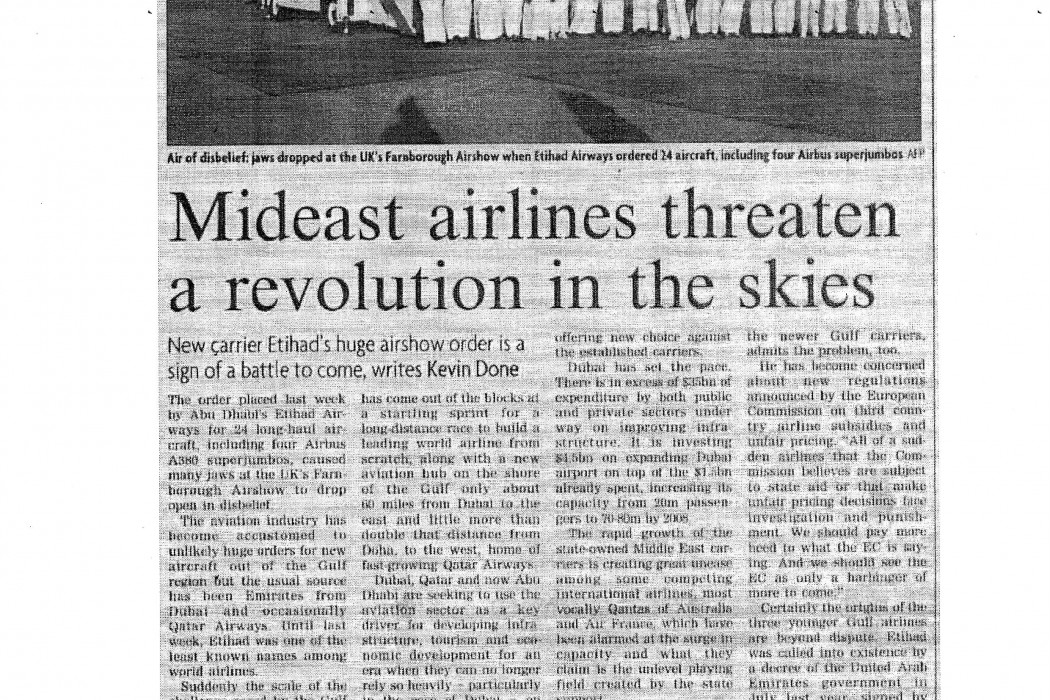 Mideast airlines threaten a revolution in the skies