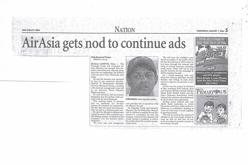 Ministry nod for airasia advertisements (2)