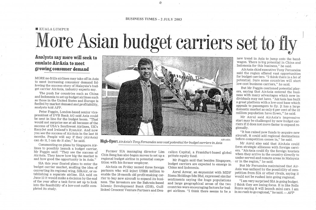 More Asian budget carriers set to fly