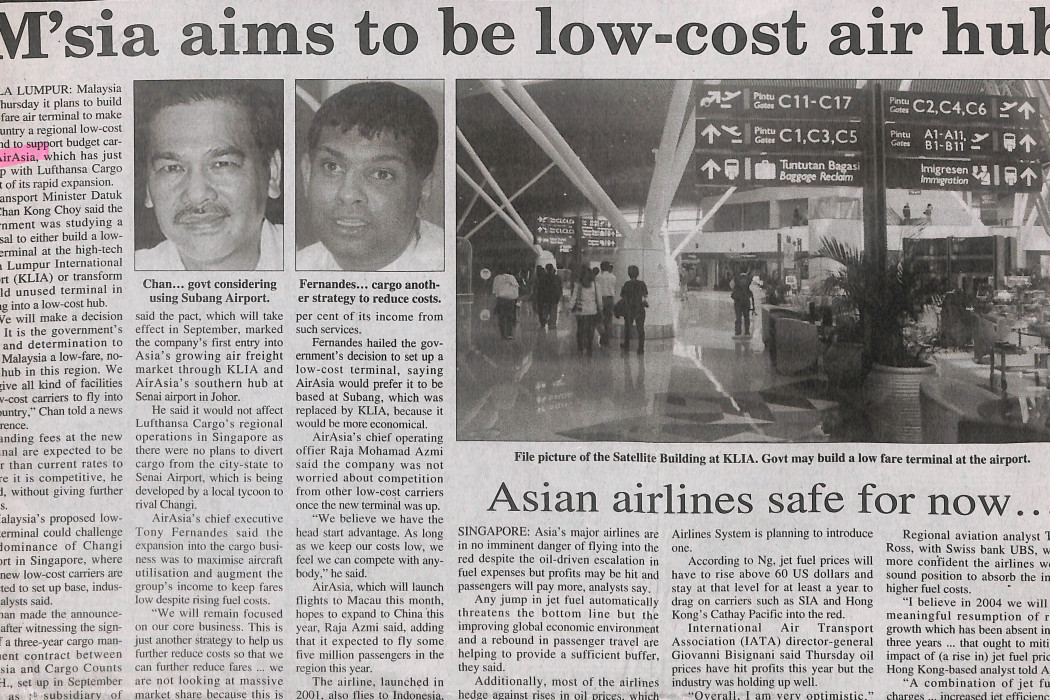 M'sia aims to be Asia's low-cost air hub