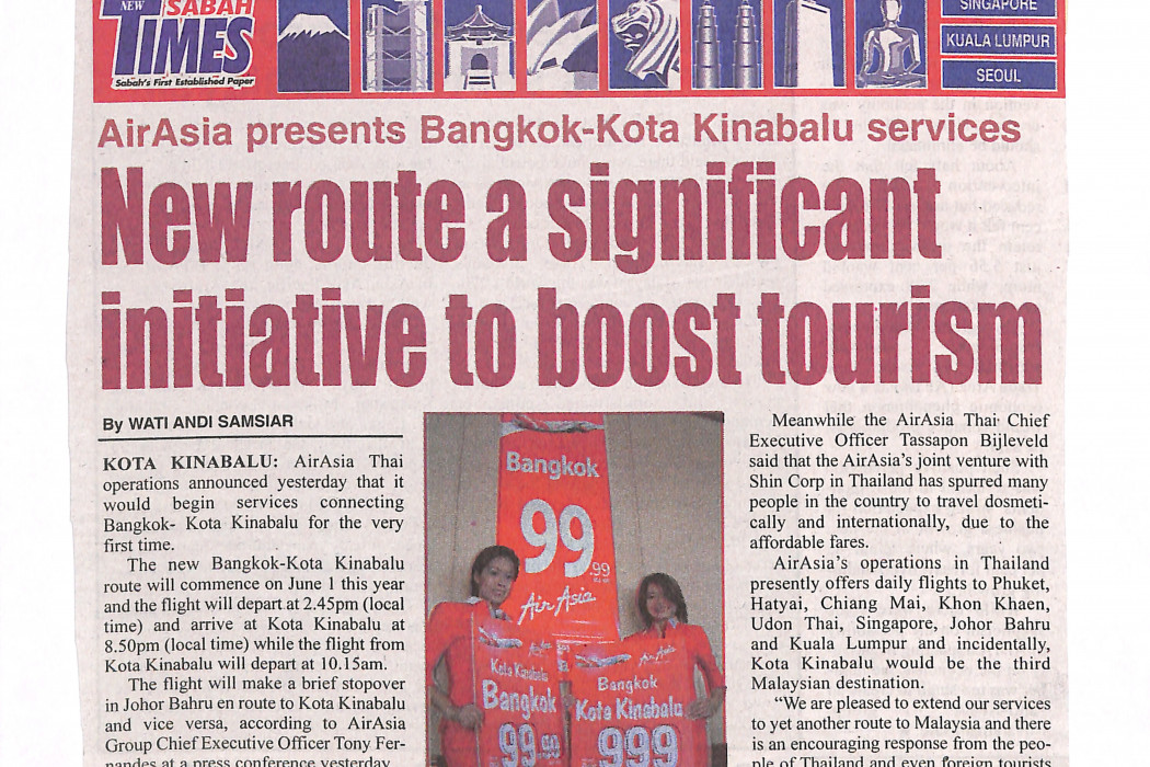 New route a significant initiative to boost tourism