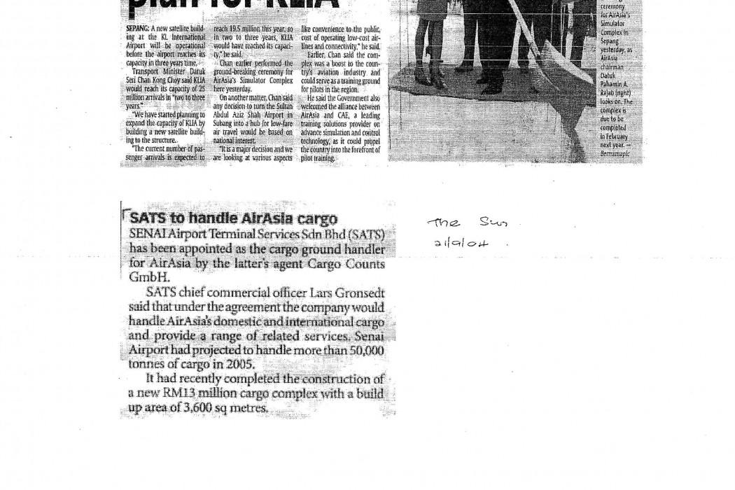 New satellite building plan for KLIA