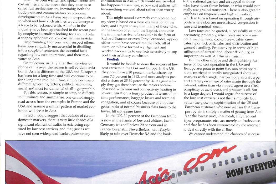 No Frills In Asia No Way, Says AAPA's Stirland - 01