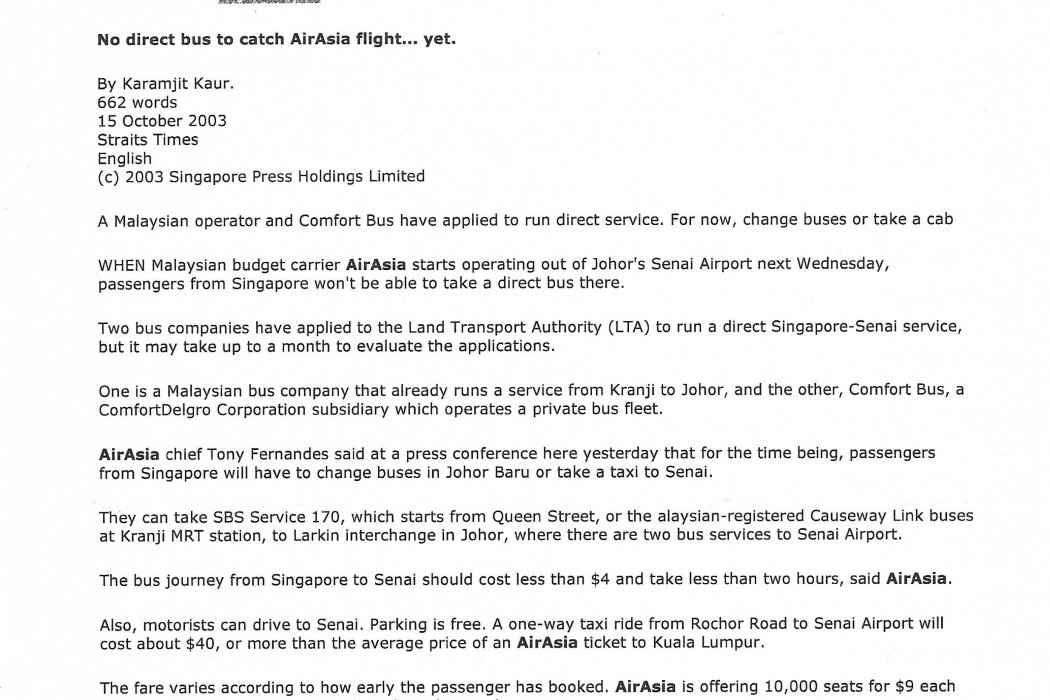 No direct bus to catch airasia flight... yet (1)