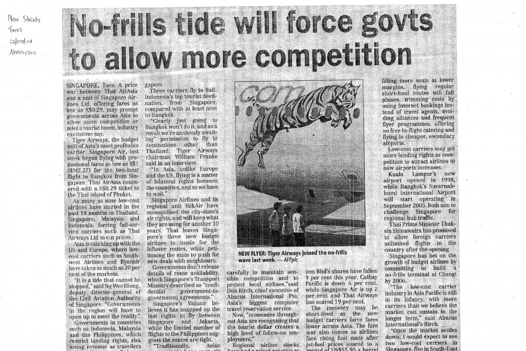 No-frills tide will force govts to allow more competition