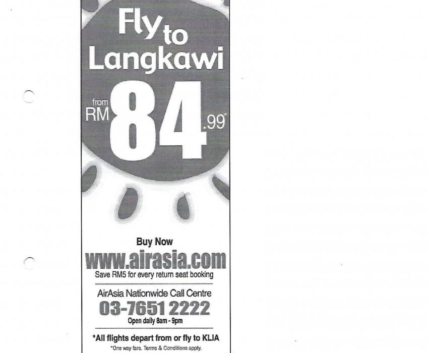 Fly to Langkawi from RM84.99