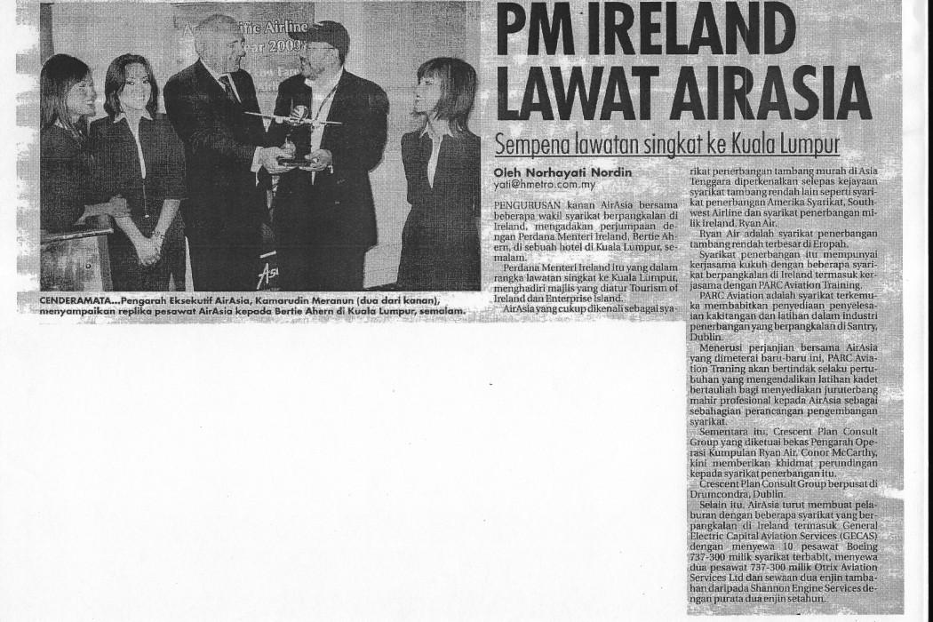 PM Ireland Lawat airasia