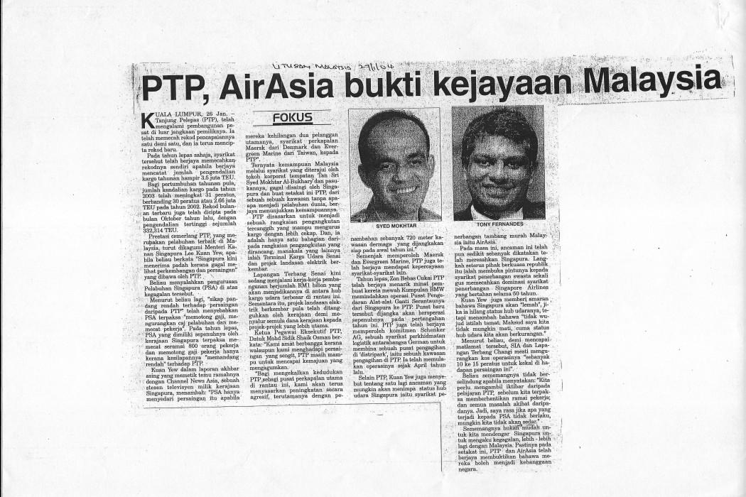 PTP, airasia bukti kejayaan Malaysia