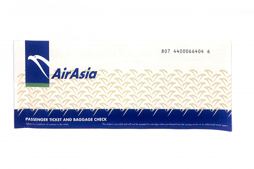 Passenger ticket and baggage check