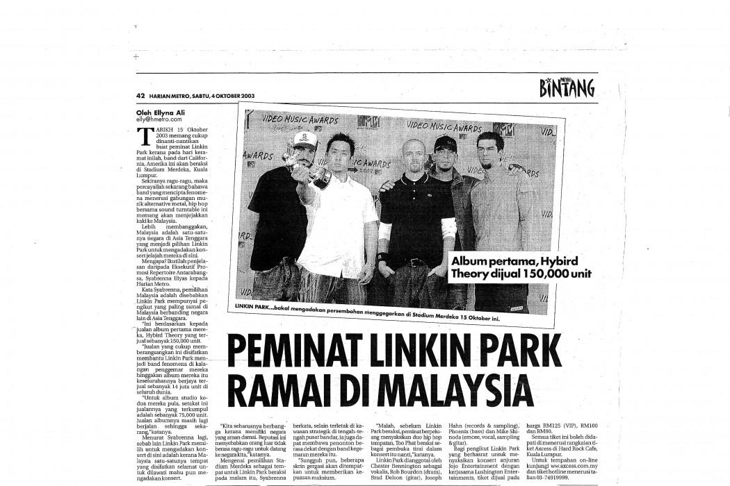Peminat Linkin Park Ramai di Malaysia