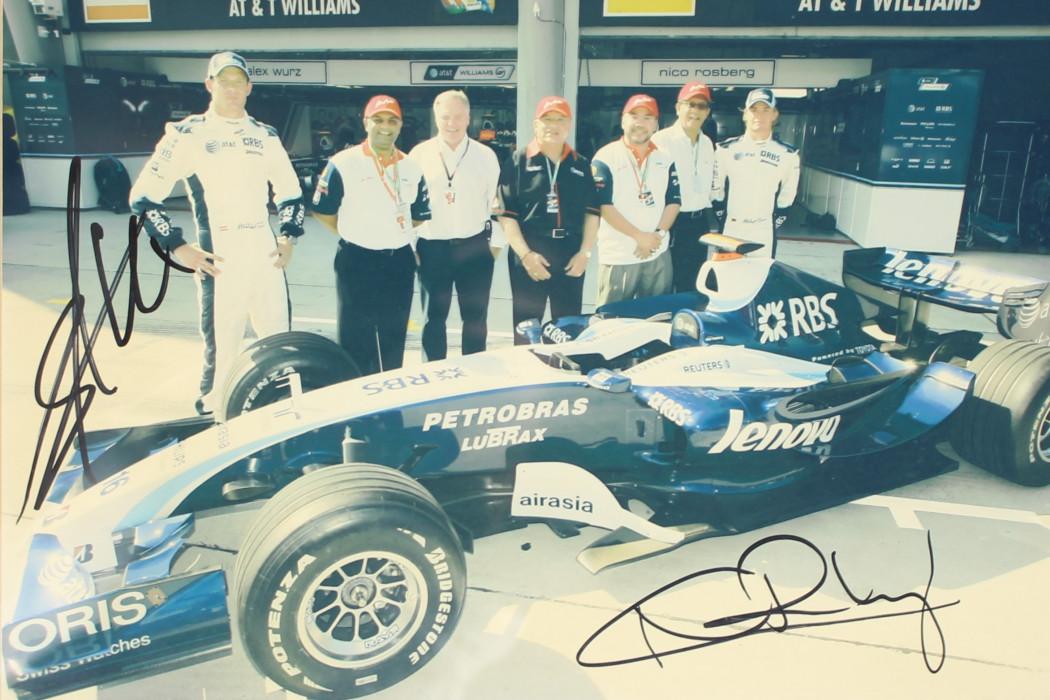 Photo Of Alexander Wurz, Nico Rosberg And airasia Execs (incl. Tony)