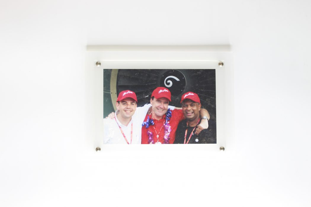 Photograph From Left Mark Breen, Conor McCarthy & Tony Fernandes