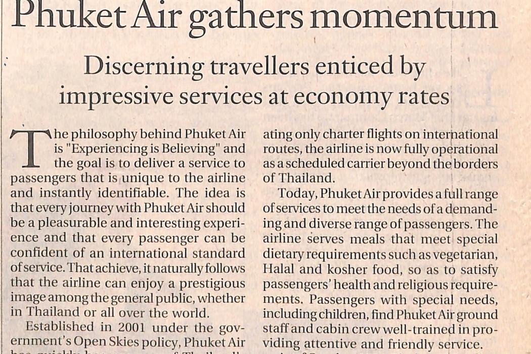 Phuket Air gathers momentum
