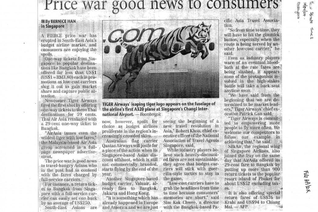 Price war good news to consumer