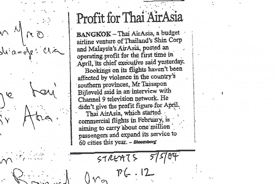 Profit for Thai airasia