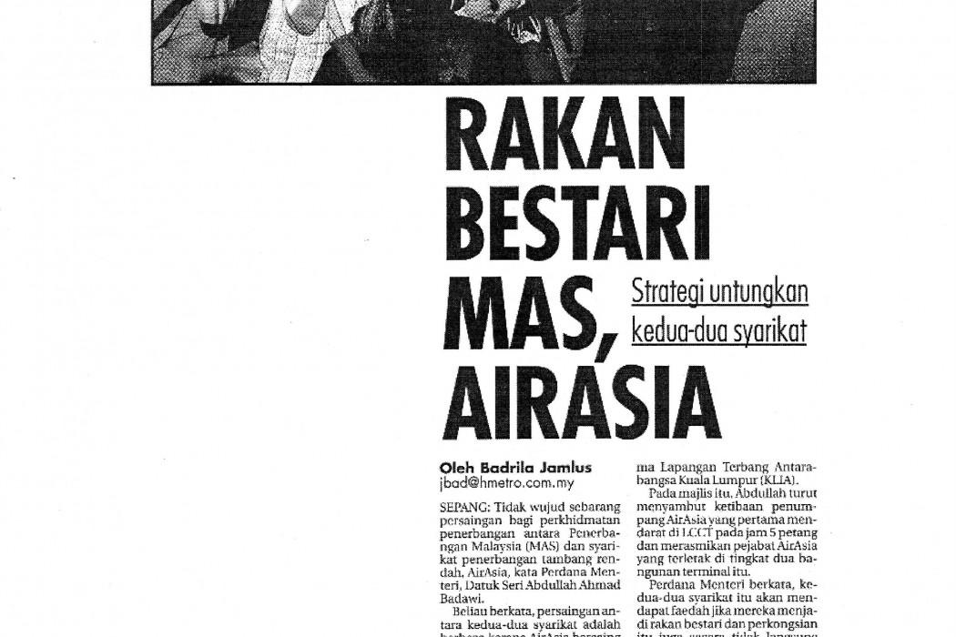 Rakan Bestari MAS, airasia
