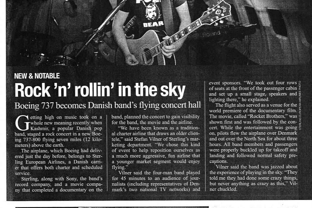 Rock 'n' rollin' in the sky