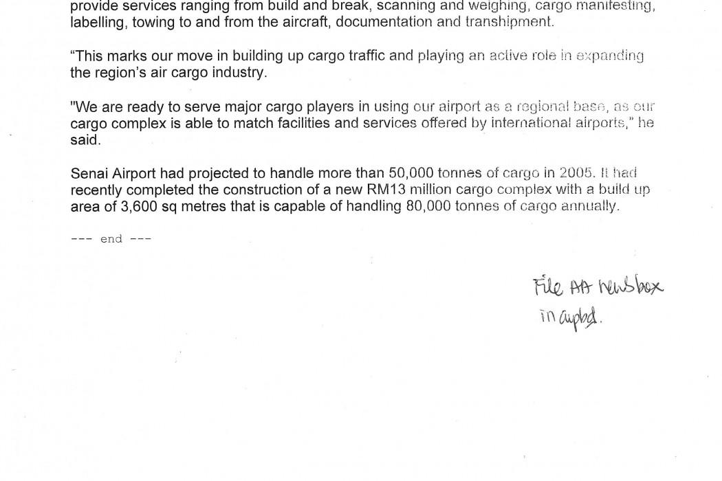 SATS to handle airasia cargo