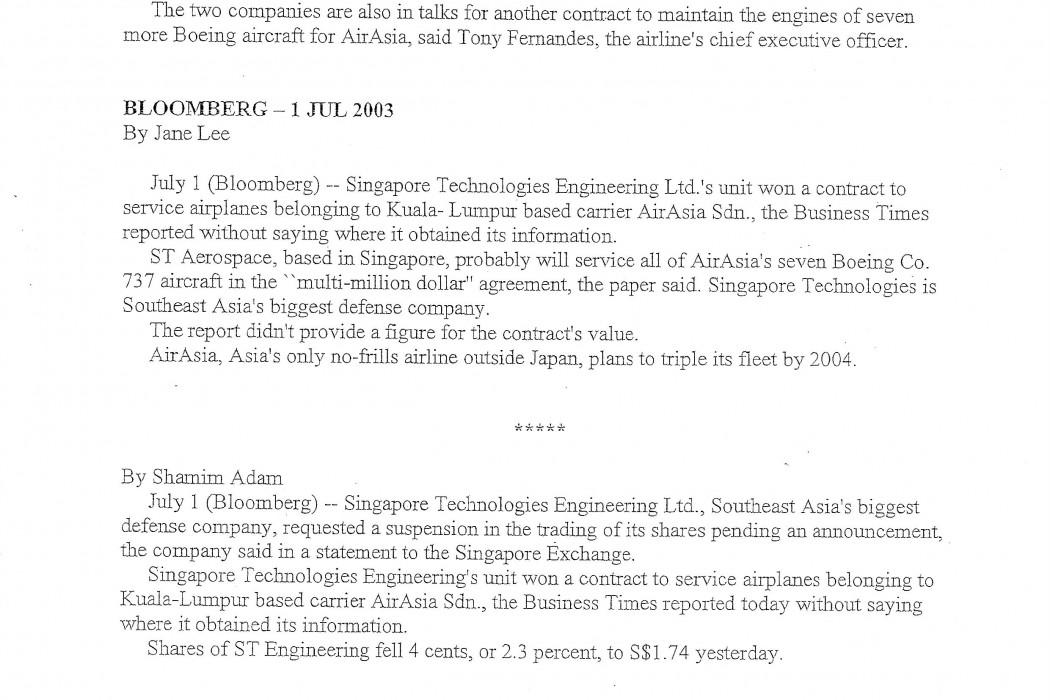 ST Engineering Wins $62.6 Million airasia Contract (1)