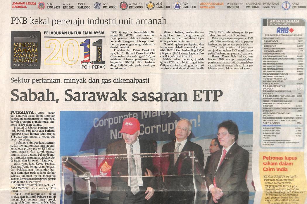 Sabah, Sarawak sasaran ETP