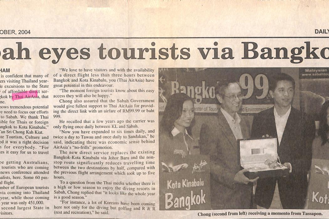 Sabah eyes tourists via Bangkok