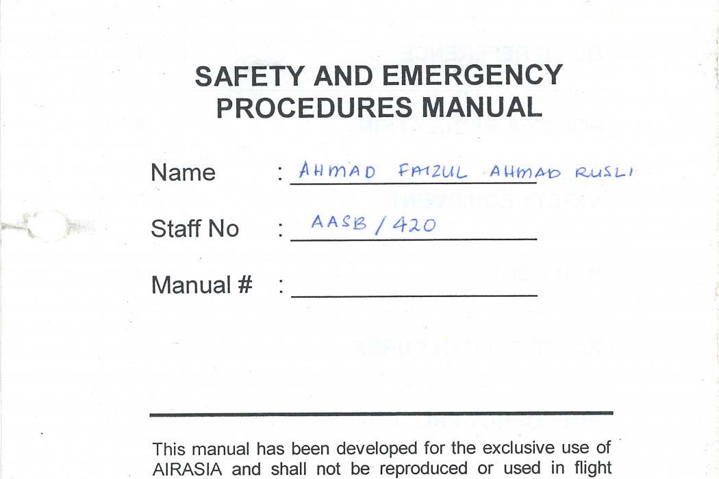 Safety Emergency Procedures Manual (6)