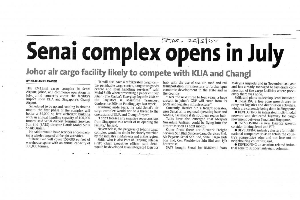 Senai complex opens in July