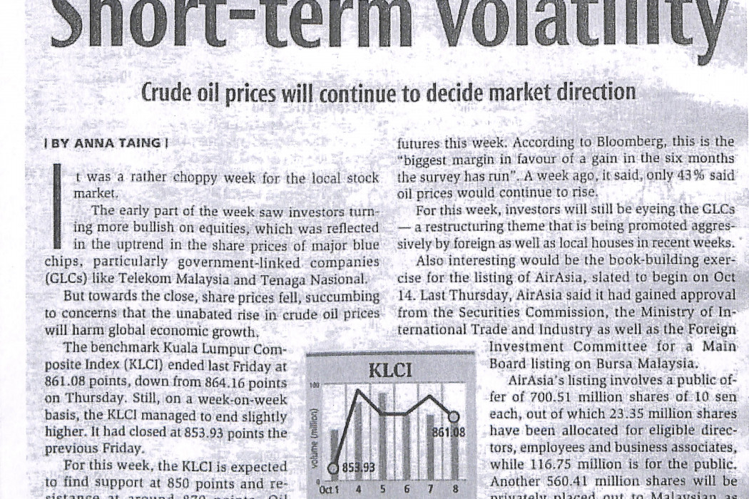 Short-time volatility