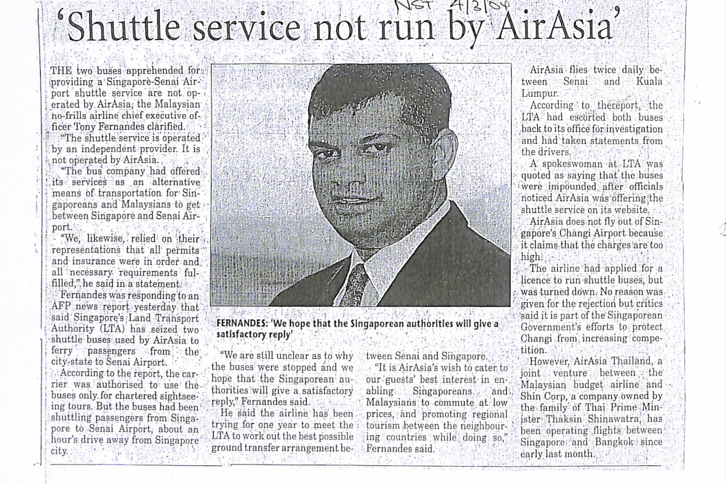 'Shuttle service not run by airasia'